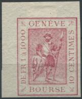 1478 - GENÈVE - Fiskalmarke Aus Der Bogenecke - Steuermarken