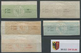 1482 - GENÈVE - Fiskalmarken - Steuermarken