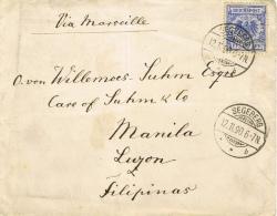 BR 516 BRIEF SEGEBERG NAAR MANILA 12 11 90 ZIE 2 SCANS - Briefe U. Dokumente