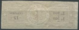 1485 - GENÈVE - Fiskalmarke ABART Mit Kopfstehendem Werteindruck