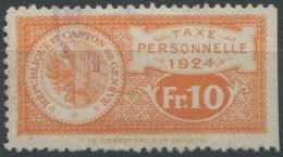 1489 - GENÈVE - Fiskalmarke - Fiscaux