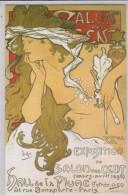 CP - MUCHA - Exposition Du Salon Des Cent - Double Carte. - Tentoonstellingen