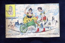 Chiromancie Comique Mépris Du Danger Témérité L'équilibriste Epreuve Imprimerie - 11 193 - Cromo