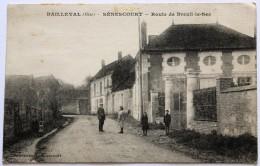 CPA 60 BAILLEVAL Sénescourt Route De Breuil Le Sec 6 Personnages Belle Carte - Autres Communes