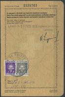 1494 - EIDGENOSSENSCHAFT - Fiskalmarken Auf Visa Seite