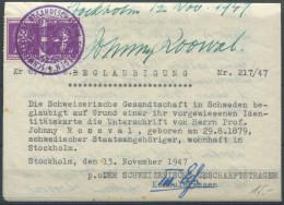 1496 - EIDGENOSSENSCHAFT - Fiskalmarken Auf Beglaubigung - Fiscaux
