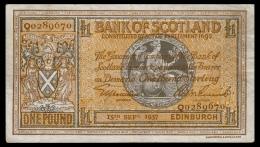 Scotland 1 Pound 1937 P.91a F+ - 1 Pond