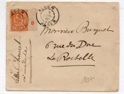 1901 - ENVELOPPE D'ALGER Avec MILLESIME / MOUCHON - Storia Postale