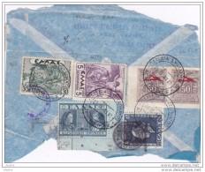 1941 - 2e Guerre Mondiale - WW2 - Fragment De Lettre Par Avion Et 1991  Et  CP Par Avion De Corinthe Vers L'Allemagne - Grèce