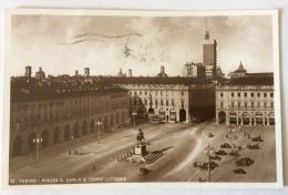 TORINO PIAZZA S. CARLO E TORRE LITTORIA VIAGGIATA FP - Places & Squares