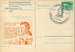 7417 Germany Ddr  Stationery Card With Special Postmark 1984 Finsterwalde, Thomas Huxley,  Prehistoric - Prehistory