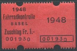 1502 - BASEL STADT - Fiskalmarke - Steuermarken