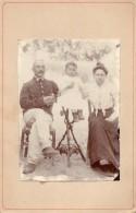 64Sma  CDV Grand Couple Soldat Chasseur Alpin Et Leur Fillette - Photographie