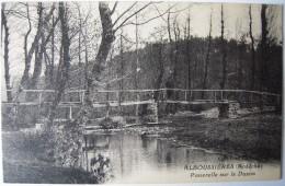 CPA Des Années 1920 - ALBOUSSIERE La Passerelle Sur Le Duzon - Editeur Serre à Valence - Comme Neuve - Lamastre, Tournon - France