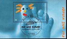 Bund Block 60 Für Uns Kinder Gestempelt Used ETST Berlin - [7] West-Duitsland