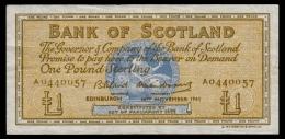 Scotland 1 Pound 1961 P.102a VF - [ 3] Scotland