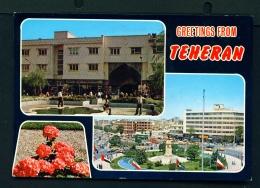 IRAN  -  Teheran  Multi View  Used Postcard As Scans - Iran