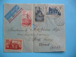Lettre De Montargis à Fort-lamy  21.04.47 - Francia