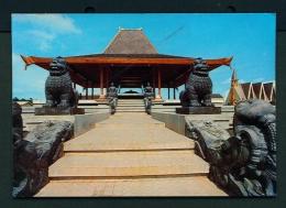 INDONESIA  -  Borobudur  Carved Lions  Unused Postcard - Indonesia