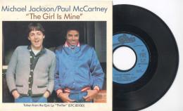 SP 45tours : MICHAEL JACKSON & PAUL McCARTNEY : The Girl Is Mine - Can´t Get Outta The Rain (1982) - Soul - R&B
