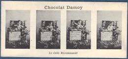 Ancien Marque Page 19 ème Siècle Publicité Chocolat Damoy Héliotypie 4 Photos Photo Le Colis Recommandé Bébé - Bookmarks