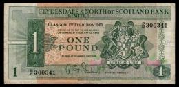 Scotland Clydesdale 1 Pound 1963 F- - [ 3] Scotland