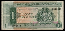 Scotland Clydesdale 1 Pound 1963 F - [ 3] Scotland