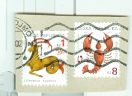 Tschechische Republik Mi. 225 Tierkreiszeichen Krebs + Mi. 199 Tierkreiszeichen Steinbock - Tschechische Republik