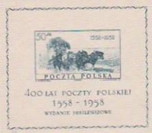 POLOGNE - BLOC FEUILLET SUR SOIE - N° 22 NEUVE XX - ANNEE 1958 - COTE : 35 €