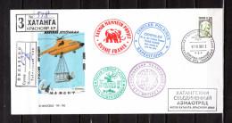 """RUSSIE 1999-2000 : Enveloppe  : """" OPERATION MAMMOUTH """". Nombreuses Oblitérations. Voir Le Scan. - Philatélie Polaire"""