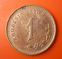 Rhodesia 1 Cent 1970 - Rhodesien
