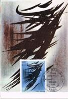 17508. Tarjeta Maxima PARIS (France) 1980. Pintura, Art Hans Hartung - Cartas Máxima