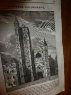 1833 LM :L'église Saint-Paul Où Henri III Fit élever Les Tombeaux De 3 De Ses Mignons;Le VAUTOUR;Pierre-le-Grand;L'ours - Vieux Papiers