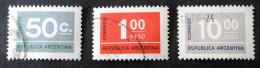 SERIE COURANTE 1976 - OBLITERES - YT 1041 + 1044 + 1063 - Argentina
