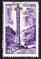 ANDORRE 1955-58 YT N° 148 Obl. - Andorre Français