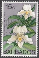 Barbados. 1974 Orchids. 15c Used. SG 517 - Barbados (1966-...)