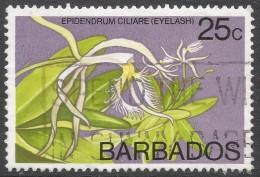 Barbados. 1974 Orchids. 25c Used. SG 518 - Barbados (1966-...)