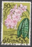 Barbados. 1974 Orchids. 50c Used. SG 496 - Barbados (1966-...)