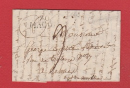Lettre / Départ Mâcon /  8 Août   1819 - Marcophilie (Lettres)