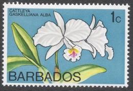 Barbados. 1974 Orchids. 1c MH. SG 510 - Barbados (1966-...)