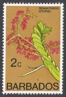 Barbados. 1974 Orchids. 2c MH. SG 511 - Barbados (1966-...)