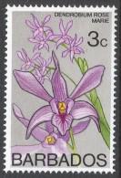 Barbados. 1974 Orchids. 3c MH. SG 512 - Barbados (1966-...)