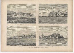 1882 Mag CORSICA CORSE Calvi Algajola Algaghjola Isola Rossa L'Île-Rousse And San Fiorenzo Saint-Florent + Article - Vor 1900