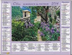Calendrier Des Postes ,saone Et Loire 2014 - Calendars