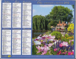 Calendrier Des Postes ,saone Et Loire 2012 - Calendars