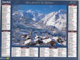 Calendrier Des Postes ,saone Et Loire 2011 - Calendars