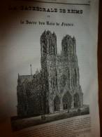 1833 LM :La Cathédrale De REIMS Et Le Sacre Des Rois De France;Pagode Chinoise; Le Canard; MASSILLON Grand Prédicateur - Vieux Papiers