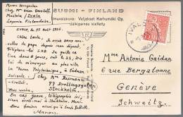 Finland, 1955, For Geneve - Finland