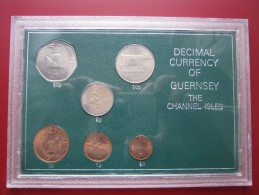 Guernsey Channel Islands 1968 - 1971 6 Coin Set UNC 1/2 Penny - 50 Pence - Guernsey