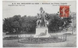 BOULOGNE SUR MER - N° 562 - MONUMENT DES FRERES COQUELIN - BEAU CACHET- CPA  VOYAGEE - Boulogne Sur Mer